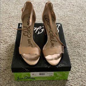 Sam Edelman rose gold shoes